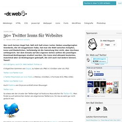 30+ Twitter Icons für Websites | Downloads, Icons, Twitter | Dr.