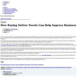 Offers to Buy Twitter Retweets