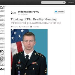IndoFoWL : Thinking of Pfc. Bradley M