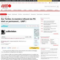 Sur Twitter, un permanent UMP se faisait passer pour un influent du PS - Multimédia et nouvelles