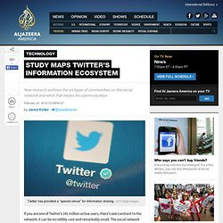 Study maps Twitter's information ecosystem