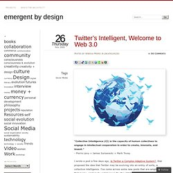 Twitter's Intelligent, Welcome to Web 3.0