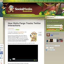 How Wells Fargo Tracks Twitter Interactions