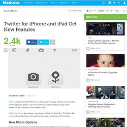 Twitter for iOS Gets New Photo Features