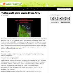 Twitter piraté par la Iranian Cyber Army