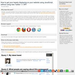 Twitter API 1.1 JavaScript only solution