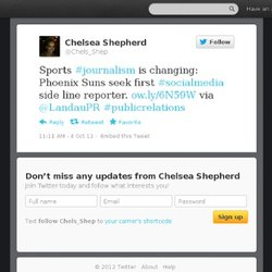 Chelsea Shepherd: Sports #journalism is chan