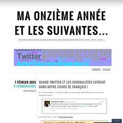 Quand Twitter et les journalistes entrent dans notre cours de français !