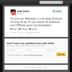 Julie Patin: Ce soir au #tweest, y a eu