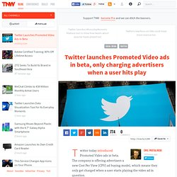 Twitter Launches Promoted Video Ads in Beta