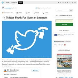 14 Twitter Feeds For German Learners - LearnOutLive