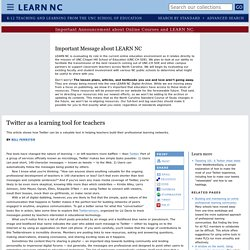 Twitter as a learning tool for teachers