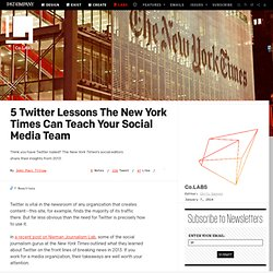 5 Twitter Lessons The New York Times Can Teach Your Social Media Team ⚙ Co