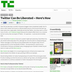 Twitter Can Be Liberated – Here's How