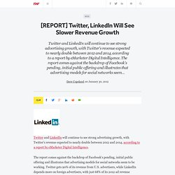 [REPORT] Twitter, LinkedIn Will See Slower Revenue Growth