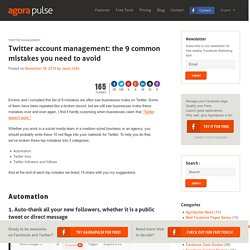 Twitter account management: 9 mistakes to avoid