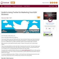Guide to Using Twitter for Marketing Your B2B Business
