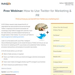 Twitter for Marketing & PR Webinar