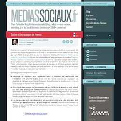 Twitter et les marques en France