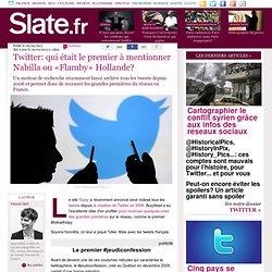 Twitter: qui était le premier à mentionner Nabilla ou «Flamby» Hollande?