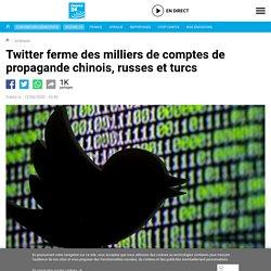 Twitter ferme des milliers de comptes de propagande chinois, russes et turcs
