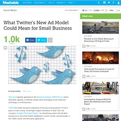What Twitter's New Ad Model Could Mean for Small Business