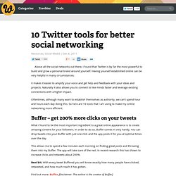 10 Twitter tools for better social networking