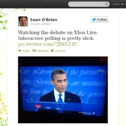 sean_obrien : Watching the debate on Xbox
