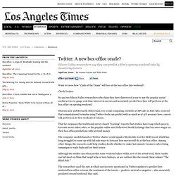 Twitter: A new box-office oracle?