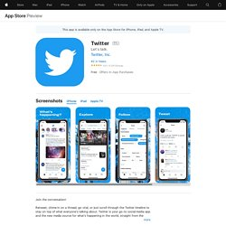Twitter on the AppStore