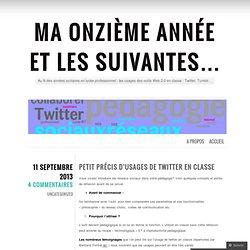 Petit précis d'usages de Twitter en classe