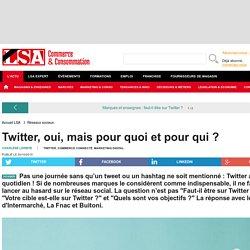 Twitter, oui, mais pour quoi et pour qui ? - Dossiers LSA Conso