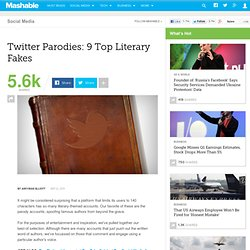 Twitter Parodies: 9 Top Literary Fakes