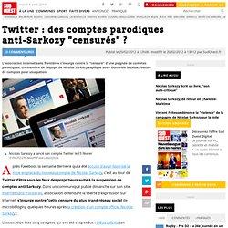 """Twitter : des comptes parodiques anti-Sarkozy """"censurés"""" ?"""