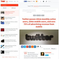 Twitter Passes 241 Million Monthly Active Users