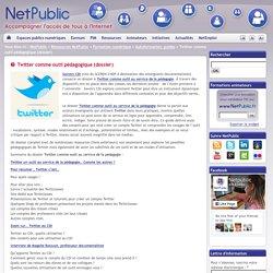 Twitter comme outil pédagogique (dossier)