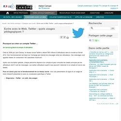 Twitter : quels usages pédagogiques ?