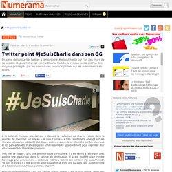 Twitter peint #JeSuisCharlie dans son QG - Numérama