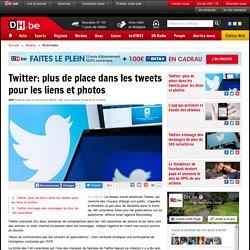 Twitter: plus de place dans les tweets pour les liens et photos - DH.be