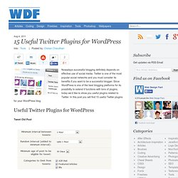 15 Useful Twitter Plugins for WordPress