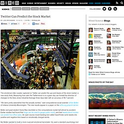 Twitter Can Predict the Stock Market | Wired Science