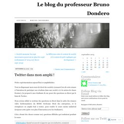 Le blog du professeur Bruno Dondero