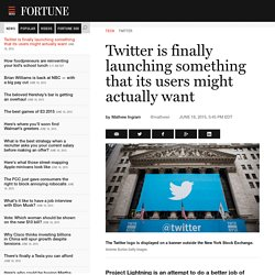Twitter's Project Lightning will curate the news around live events