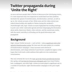 Twitter propaganda during 'Unite the Right'