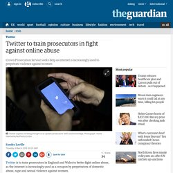 Twitter to train prosecutors in fight against online abuse