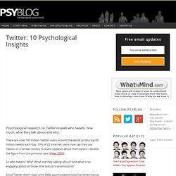 Twitter Psychology