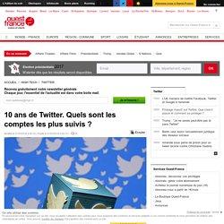 10 ans de Twitter. Quels sont les comptes les plus suivis ?