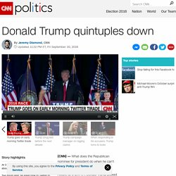 Trump Twitter rant: Donald Trump quintuples down