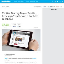 Twitter Testing Major Profile Redesign That Looks a Lot Like Facebook