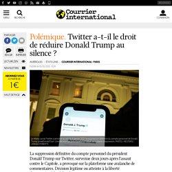 Twitter a-t-il le droit de réduire Donald Trump au silence?